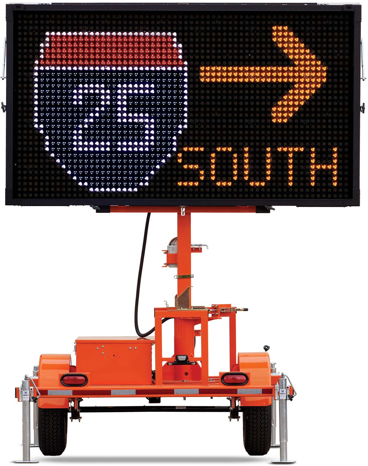Wanco Color Message Sign For Traffic Control Wvtm 5c